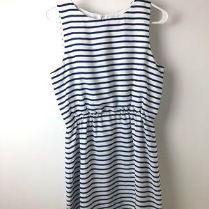 J.Crew Blue Nautical Strip Silky Dress